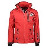 Geographical Norway Chaqueta multifunción softshell impermeable para hombre (Rojo,...