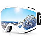 findway Gafas de Esquí, Máscara Gafas Esqui Snowboard Nieve Espejo para Hombre...