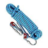 HUSZZM Cuerda de Escalada de 10 m Cuerda de Seguridad con 2 Mosquetones, Cuerda...