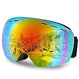 DIAOCARE Gafas de Esquí, OTG Gafas de Snowboard Anti Niebla 100% UV400 Protección...
