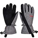 Guantes de esquí, guantes de nieve impermeables a prueba de viento, guantes de...